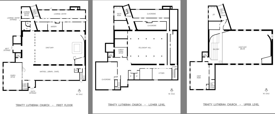 Trinity Lutheran Floor Plans